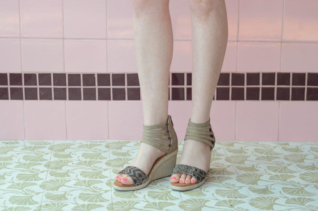 Bearpaw Calla espadrille wedge sandals