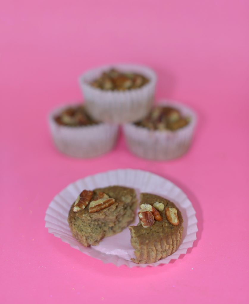 Healthy Vegan Gluten-Free Banana Muffin Recipe with Los Angeles Cruelty-Free Beauty Blogger, Emily Wolf Beauty.