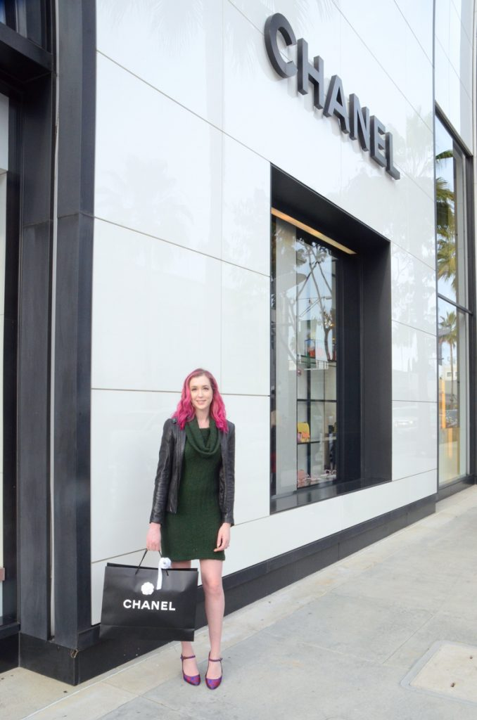 Los Angeles Cruelty-Free Beauty Blogger, Emily Wolf Beauty shares her Chanel shopping experience on Rodeo. Take a look.
