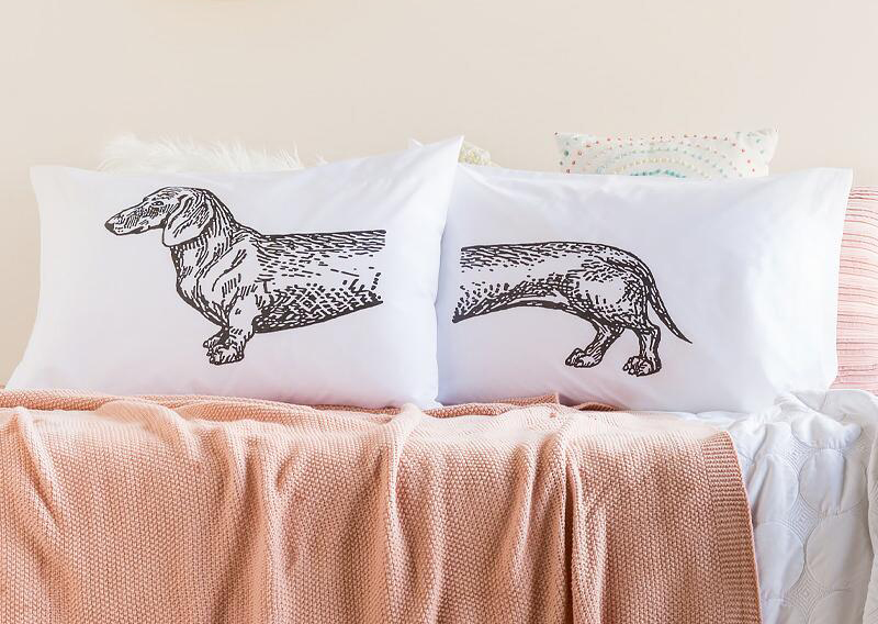 francesca's dachshund pillowcases