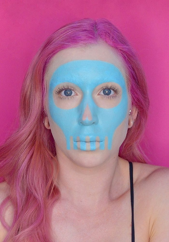 Pastel Skull Halloween Makeup Tutorial