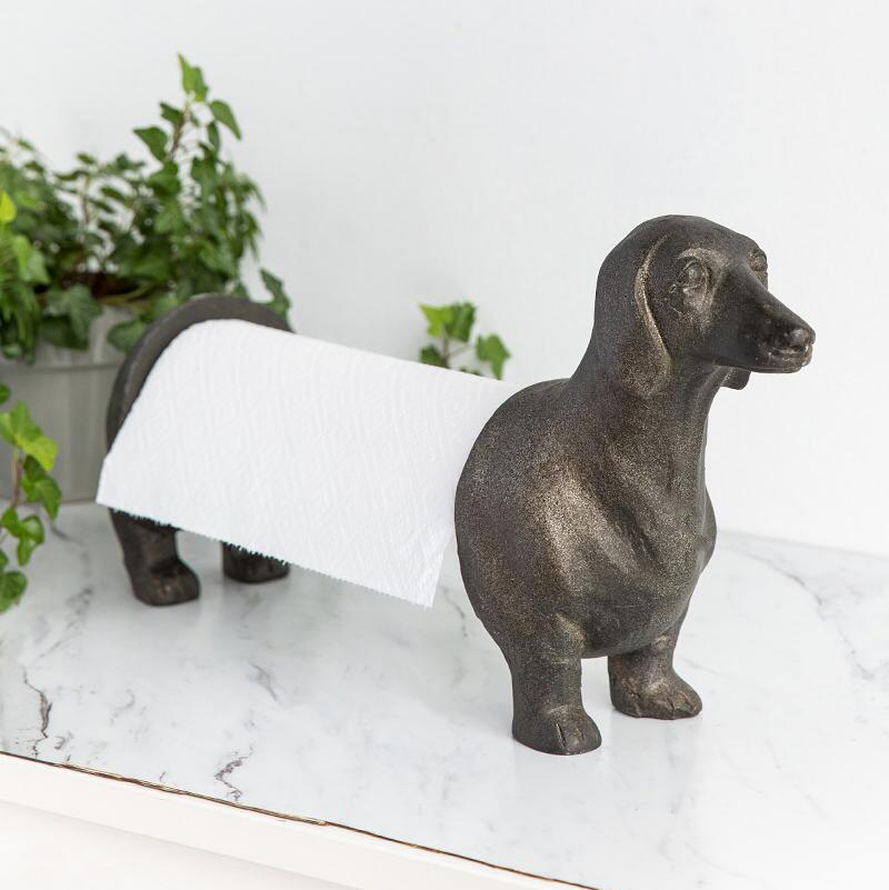 francesca's dachshund paper towel holder